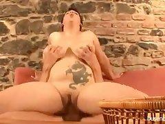 Huge mamma German milf fucking young guy