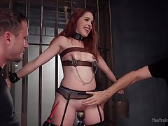 BDSM with an increment of a slave role is amazing experience with Amarna Miller