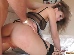Hotel wench screwed cleaning windows with will not hear of tongue. Mia Bandini - mia bandini