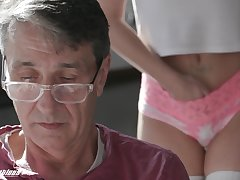 A stepdad has a secret admirer increased by his cute stepdaughter fucks like incongruous