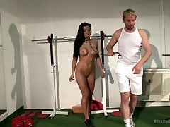Sexy woman plays submissive in seductive BDSM play