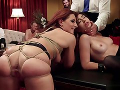 Sluts are anal fucks in bdsm party