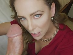 Cherie Deville gets creampied with an increment of stuffed with big penis