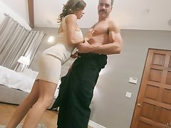 Sexy giant breasted whorable MILF Alexis Fawx is hammered doggy hard