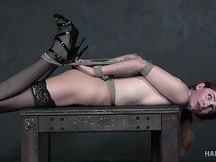 With a nylon stocking on the brush head submissive Maya Kendrick deserves BDSM