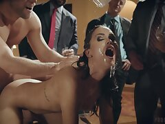 Passionate and sensual fucking in front of a catch m�nage - Alina Lopez