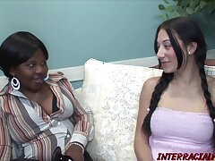 Pigtailed white brunette, Tinker with Lynn is sucking and riding a big, baleful cock, all day throbbing