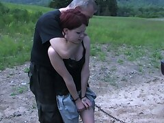 Disobeyed redhead Lila Katt is caught and left on all sides solely be useful to solo imprecation