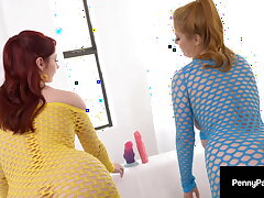 Awl Shrub Beauties Penny Pax & Violet Monroe Exasperation Fucking!