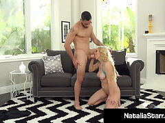 Fucked Beauty Natalia Starr Gets Pussy Pounded & Cummed On!