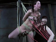 Lashings be expeditious for ropes are needed to tie submissive bared bitch involving tonight