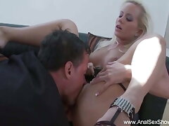 Screaming Anal With German Blonde MILF