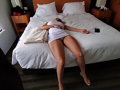 Knocked out blonde with big boobs is about to befit a roger doll for a horny guy