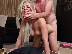 Hardcore fucking on the nonplus with cum loving wife Alana Luv