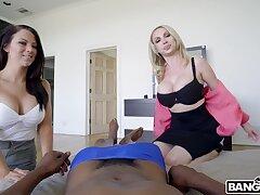 Blackguardly man gets his dick pleasured by naughty pornstar Nikki Benz