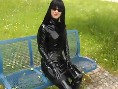 Amulet Lady Ambler Outdoors In Sexy Shiny Outfits