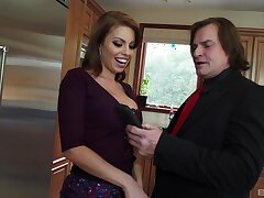 Big dick causes Britney Amber to make poor decisions back the kitchen