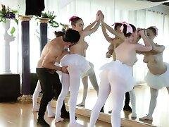 Sexy teen threesome and mature girl Ballerinas