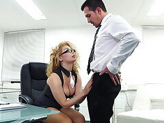 Extreme girl in the office