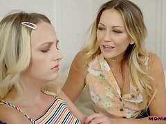 Sharing a gripped dick pleases both Kate Bloom and Adira Allure