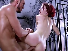 Perforator slavegirl is brutally fucked here the intercourse dungeon