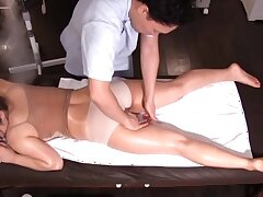 Horny Japanese babe Mizusawa Riko gets fingered by means of massage
