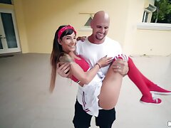 Hot ass pornstar Kitty Carrera gets fucked by a fruitful white learn of