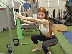 Amateur fucking in the gym anent small tits amateur Jane Rogers