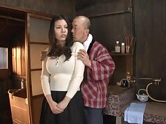 Quickie making out at home nearly busty Japanese housewife Sophia Takigawa