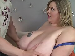 BBW housewife Mandy Exalted enjoys object fucked from behind
