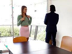Terrifying fucking on the chair surrounding hot ass secretary Jill Kassidy