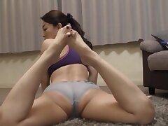 Horny mature Kuga Minami masturbates with the addition of gets pleasured in POV