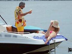 Hardcore sex on a motorboat in all directions slutty girlfriend Kenzie Madison