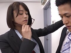 Quickie shafting in the assignation ends with cum in mouth for Ayane Haruna