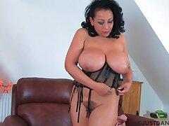 Curvy MILF Danica Collins enjoys fingering her wet fuck hole