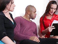 Insane black porn for two pulchritudinous women