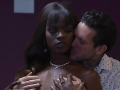 Wanton and sexy slender malignant nympho is fucked fast by white brace