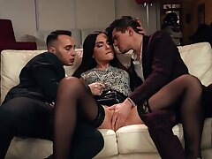 Boys engaged macho mode and drilled moaning flatterer pile up
