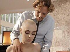 Bald headed pornstar Paris Affaire d'amour is fucked hard by horny boy Tyler Nyxon