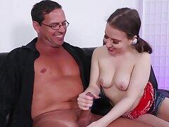 Girl wants respecting make man reach orgasm so she wanks perfectly