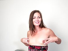 Small boobs amateur Vivian Smith loves fingering her hairy cunt