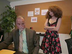 Curly student gets fucked by her experienced teacher - Cecilia Lion