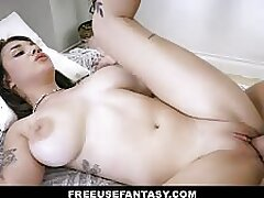Gabbie Carter takes a cock in her smooth pussy