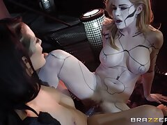 Jessa Rhodes And Katrina Jade In Sinful Chicks Play Thither Dildo In The Dungeon