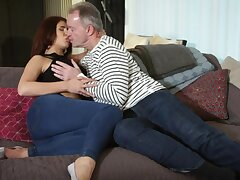 Ayda Swinger sucks old load of shit sitting on lover's face and gets fucked doggy style