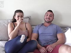 An first-timer plus-size, Angelina Canal and her beau, George Gomez are pummeling all day lengthy