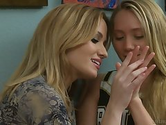 Yummy babe AJ Applegate is trample and masturbating pussy of X-rated GF