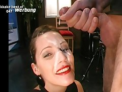 Pretty faces ruined with gobs of hot cumshots
