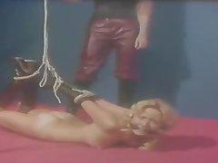 Bondage Blonde tied bother