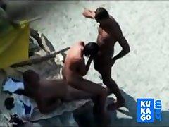 Nude Lido - Unerring Bareback Threesome
